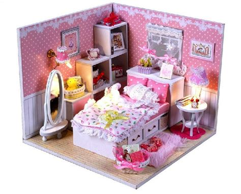 pink doll houses pink diy a corner of led light dollhouse room miniatures angle s dream with cover
