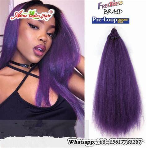 1pack Synthetic Fiber Pre Loop Yaki Straight Crochet Hair Extension Popular Yaki Hairpeice
