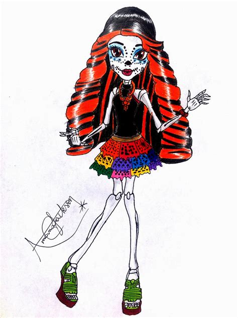 monster high skelita calaveras coloring pages skelita calaveras by amana jackson on deviantart