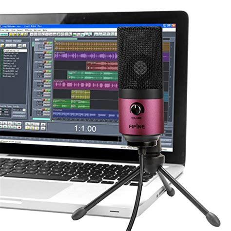 fifine usb podcast condenser microphone recording