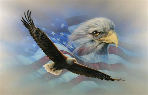 Truck Bed Decals American Flag Soaring Bald Eaglewall Rv Motorhome Or