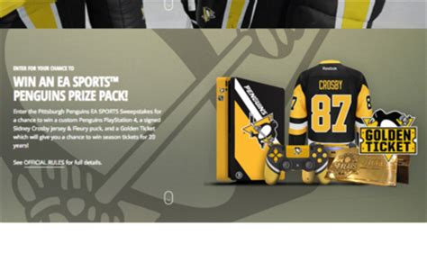 electronic arts pittsburgh penguins ea sports sweepstakes sun sweeps - Electronic Sweepstakes