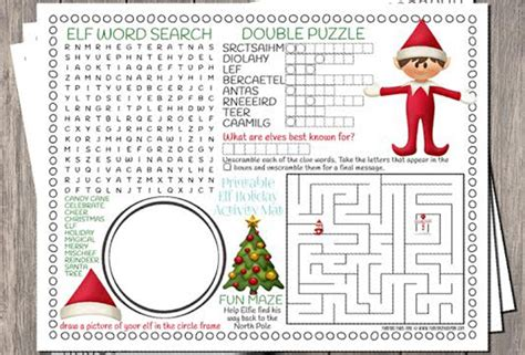 Printable Elf Activities | 4 best images of activity christmas printable elf print