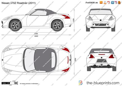 370z Coloring Page by Nissan 370z Roadster Vector Drawing