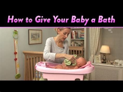 how to give your baby a bath cloudmom youtube