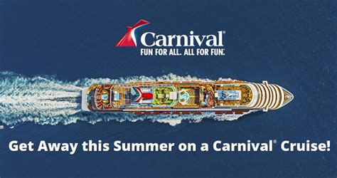 Carnival Cruise Sweepstakes - win your choice of a 3 to 7 day carnival cruise from ellen