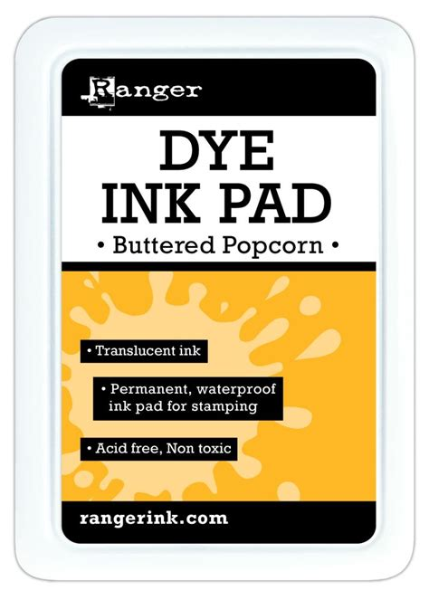 ranger dye ink pads buttered popcorn for scrapbooks cards crafting