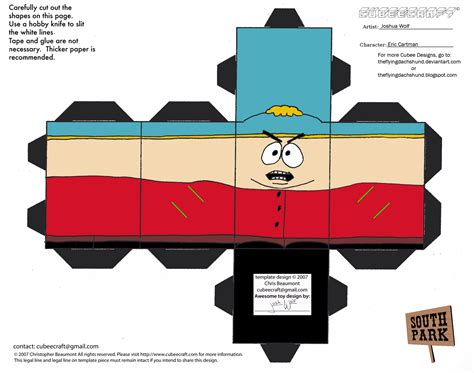 South Park Papercraft - sp1 eric cartman cubee by theflyingdachshund on deviantart
