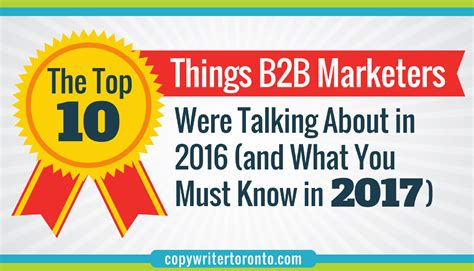 the top 10 things b2b marketers were talking about in 2016