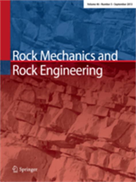 Experimental Rock Mechanics rock mechanics and rock engineering incl option to