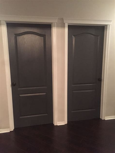 Interior Doors For Homes Best Decision Painting All Our Interior Doors Sherwin Williams Peppercorn And Black