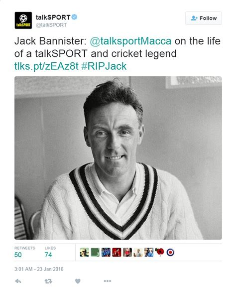tributes pour in for bannister after cricket