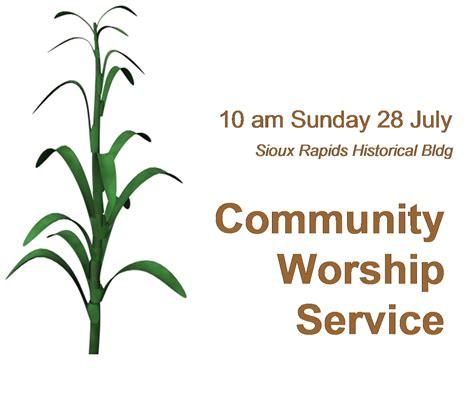community church service community worship service sioux rapids riverside