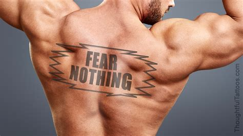fear nothing tattoo design list of two word quotes for tattoos