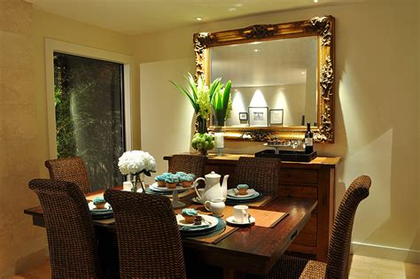 magnificent mirrored buffet  dining room contemporary