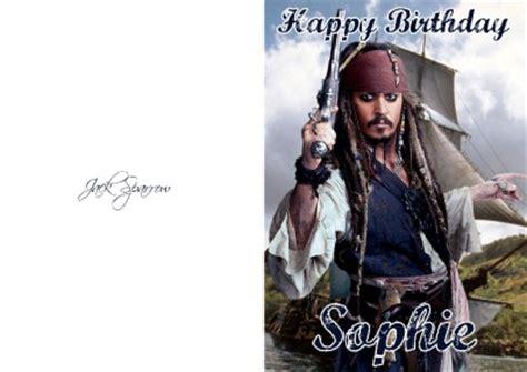 Johnny Birthday Card Personalised Jack Sparrow Johnny Depp Birthday Card Ebay