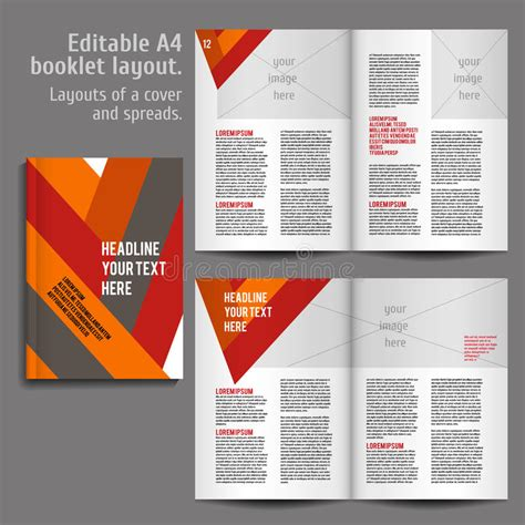 book layout design online a4 book layout design template stock vector illustration