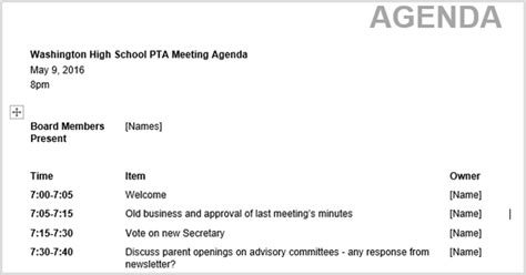 Creating An Agenda Using A - 15 best meeting agenda templates for word