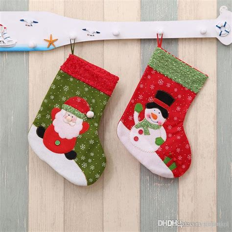 twenty five days of christmas minu stocking on a rope from crackabsral 2017 new year mini socks santa claus gift bag for tree decor