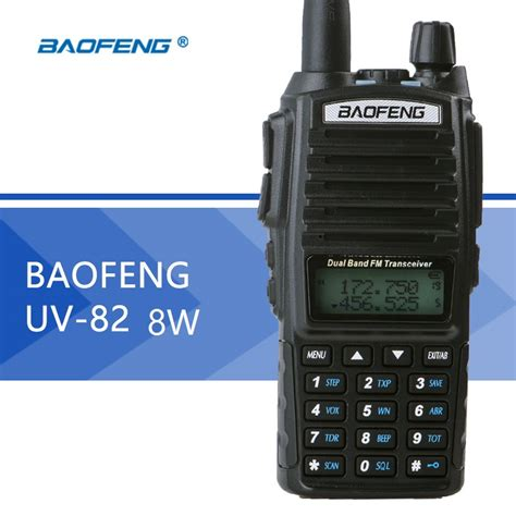 Baofeng Walkie Talkie 2 Way Radio 8w 128ch Uhf Vhf Uv T8 Hitam baofeng uv 82 8w walkie talkie dual ptt high power two way radio 128ch vox flashlight ham radio