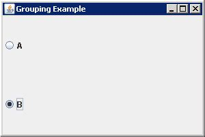jradiobutton group exle in java swing listening to jradiobutton events with a changelistener