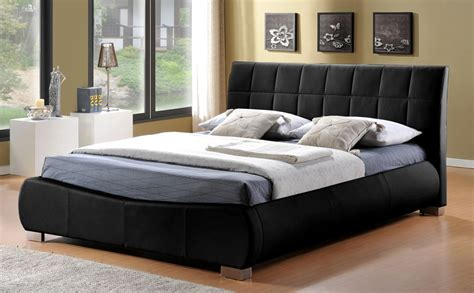 Black Beds by Dorado Black Leather King Size Bed Only 163 399 99