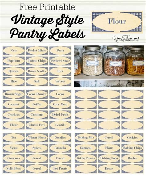 Labels For Pantry by Vintage Style Pantry Labels From Knickoftime Net