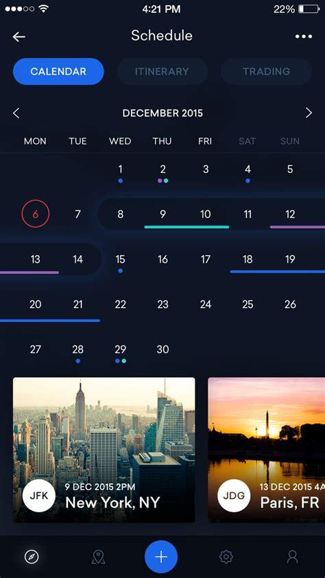 calendar layout ios 260 best images about mobile ui calendar on pinterest