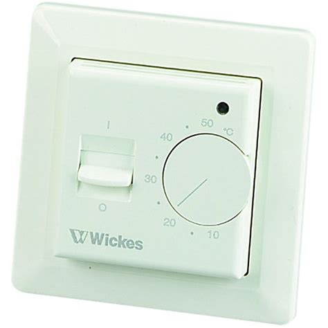 bathroom underfloor heating thermostat wickes analogue undertile probe thermostat wickes co uk