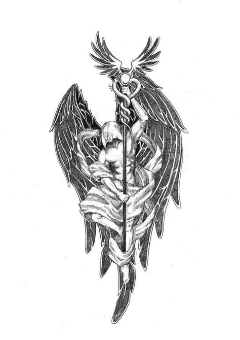 arch angel tattoo archangel flash sleeve