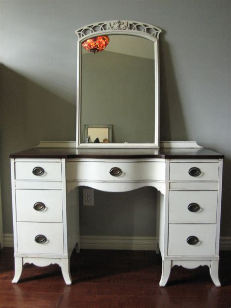 Vintage Dresser Vanity by European Paint Finishes Antique White Dresser Vanity