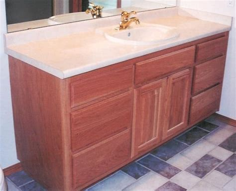 Raised Vanity by Custom Handcrafted Bathroom Cabinets And Furniture