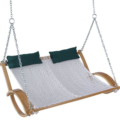 double hammock chair swing pawleys curved arm double rope hammock swing