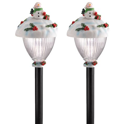 8pk westinghouse solar led pathway lights christmas holiday winter garden yard 2 pack westinghouse solar led snowman pathway stake light ebay