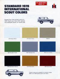 scout colors 1978 international scout colors cars