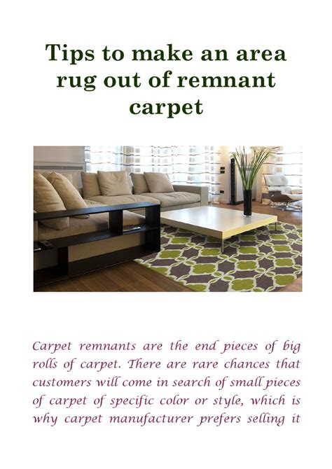 a rug out of carpet tips to make an area rug out of remnant carpet authorstream
