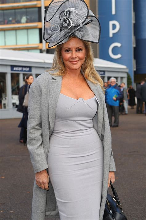 carol vorderman  flaunts major cleavage