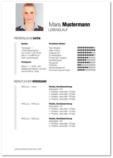 Word Vorlage Lebenslauf Mit Bild Moderner Lebenslauf Vorlagen Und Tipps