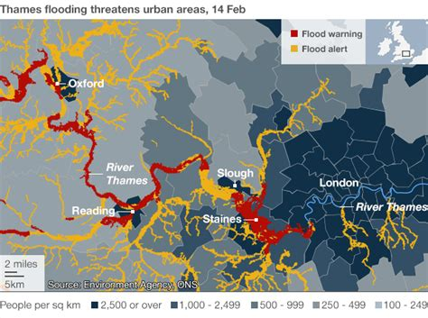 river thames flood plain map uk storms mapping the floods bbc news
