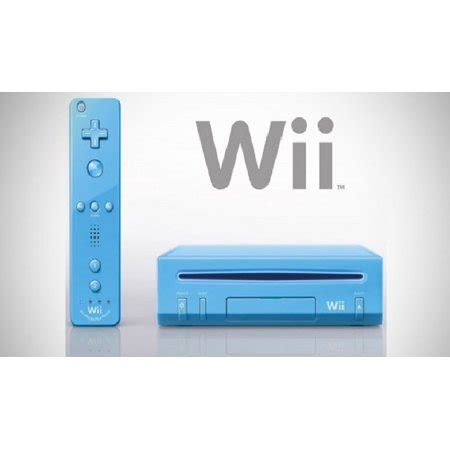 nintendo wii console used refurbished nintendo wii blue console walmart