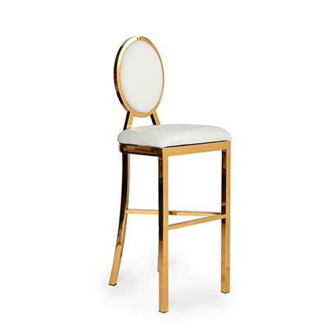 Gold And White Stool by Bar Stool White Gold Frame Miami