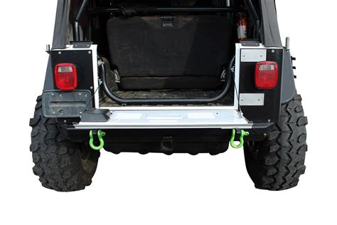 jeep wrangler aluminum drop tailgate conversion kit