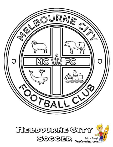 coloring pages football clubs striking australia soccer sports coloring fifa free