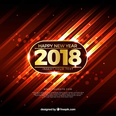 new year colors to avoid realistic new year 2018 background with warm colors vector