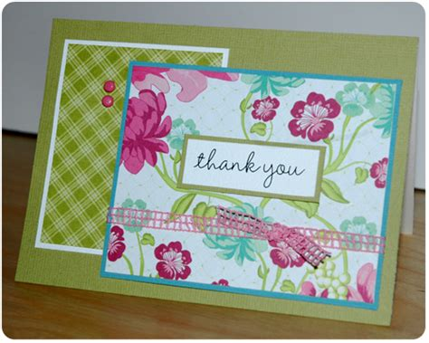 Patterned Paper For Card - crafty cucumber card of the week five thank you cards