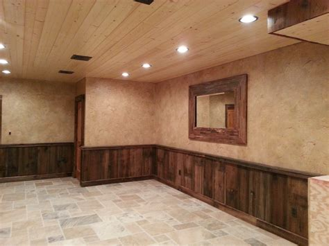 Wood Wainscoting Crackled Finish Above Barn Wood Wainscoting Pennsylvania