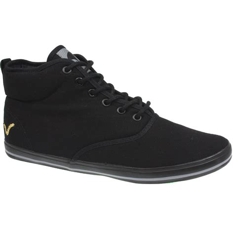 voi mens boots mens voi fiery mid lace up plimsolls ankle padded