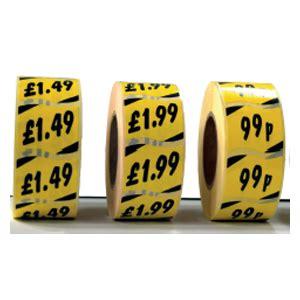 Index Price Sticker self adhesive price labels stickers maxshelf