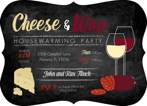 Cheese And Wine Housewarming Party Invitation Housewarming Invitations Wine And Cheese Invitation Template Free