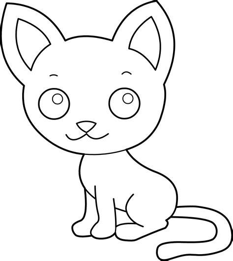 free coloring pages of cat black and white